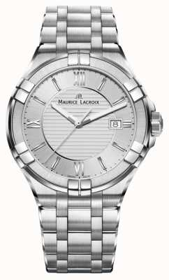 Maurice Lacroix Womens Aikon Stainless Steel Bracelet Silver Dial AI1004-SS002-130-1