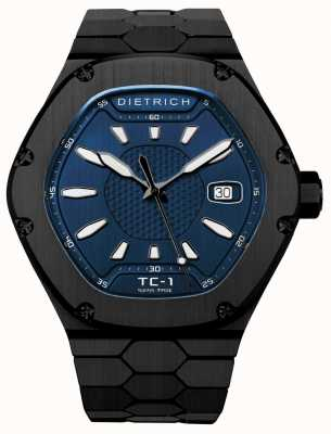 Dietrich Time Companion Automatic Black PVD Blue Dial TC-1 PVD BLUE