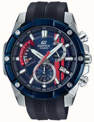 Casio Edifice Toro Rosso Rubber Strap Blue Dial EFR-559TRP-2AER