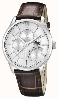 Lotus Mens Casual Multi Function Watch Leather Strap 15974/1