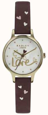 Radley Womens Love Watch Leather Strap Gold Plated RY2578