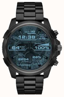 Diesel Mens Full Guard Black Touchscreen Ion Plated Smartwatch DZT2007