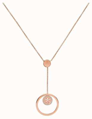 Fossil Womens Rose Gold Tone Necklace JF02907791