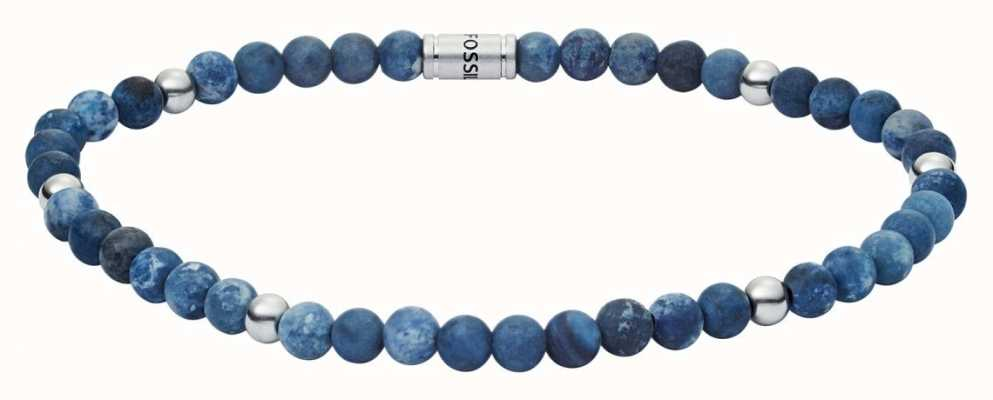 Fossil Mens Vintage Casual Sodalite Bead Bracelet JF02835040