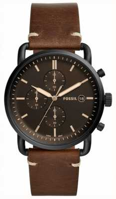 Fossil Mens Commuter Leather Strap FS5403