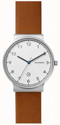 Skagen Mens Ancher Leather Strap SKW6433