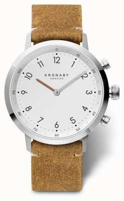 Kronaby 41mm NORD Brown Suede Leather Stainless Steel A1000-3128 S3128/1