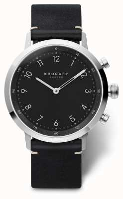 Kronaby 41mm NORD Black Leather Strap Stainless Steel A1000-3126 S3126/1