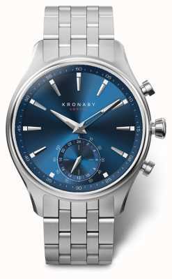 Kronaby 41mm SEKEL Blue Dial Stainless Steel Bracelet A1000-3119