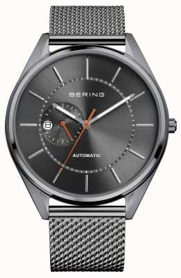 Bering Automatic Date Display Grey Dial Stainless Steel Mesh Strap 16243-377
