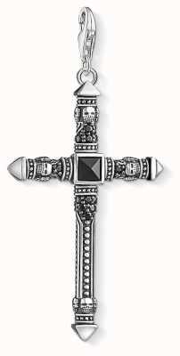 Thomas Sabo Black Zirconia Detailed Cross Charm Pendant Y0019-508-11