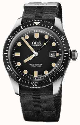 Oris Divers Sixty-five Automatic Black Dial Black NATO Strap 01 733 7720 4054-07 5 21 26FC