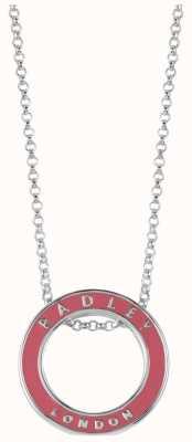 Radley Jewellery Esher Street Silver pink Enamel Circle Necklace RYJ2005