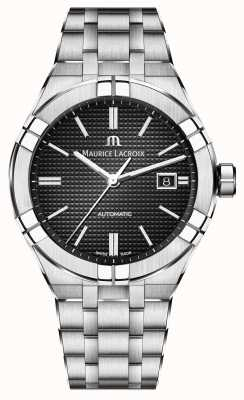 Maurice Lacroix Aikon Automatic Stainless Steel Black Dial Watch AI6008-SS002-330-1