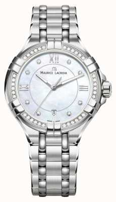 Maurice Lacroix Eliros Ladies Moonphase Mother Of Pearl Stainless Steel EL1096-SD502-170-1