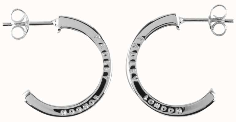 Radley Jewellery Hatton Row Silver Inlay Hoop Earrings RYJ1011