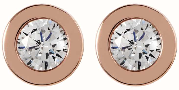 Radley Jewellery Fountain Road Silver Rose Gold Stone Stud Earrings RYJ1000