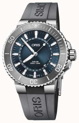 Oris Source Of Life Men's Aquis Limited Edition Blue Dial Rubber 01 733 7730 4125-SET RS