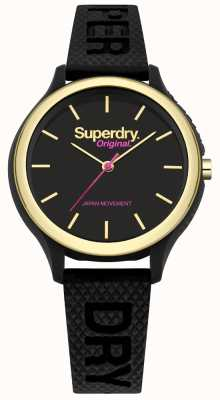 Superdry Sapporo fluoro pop Black Silicone Strap SYL151BG
