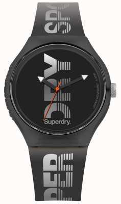 Superdry Urban XL Sport Black Silicone Strap SYG189B