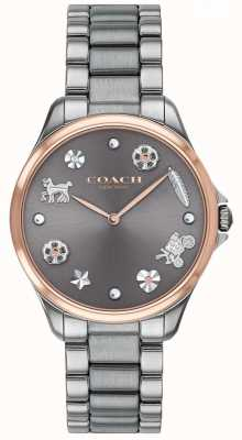 Coach Modern Sport Grey Dial Gunmetal IP Stainless Steel 14503064