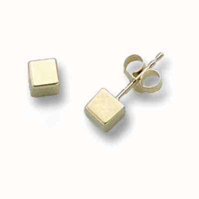 Treasure House 9k Yellow Gold Cube Stud Earrings ES262S