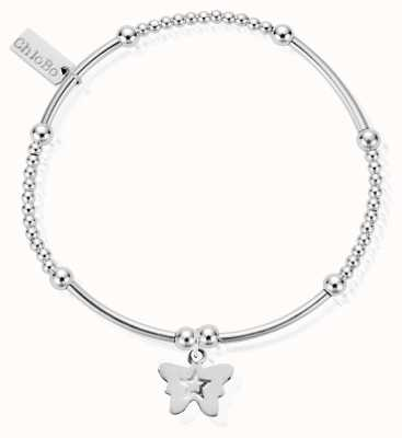 ChloBo Sterling Silver Cute Mini Butterfly Bracelet SBCM408