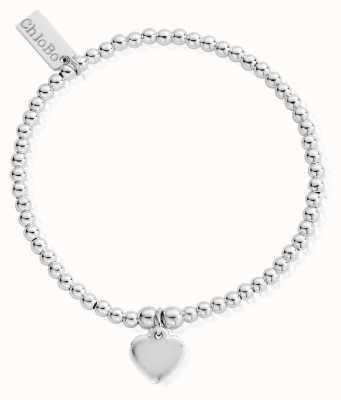 ChloBo Sterling Silver Cute Charm Heart Bracelet SBCC024