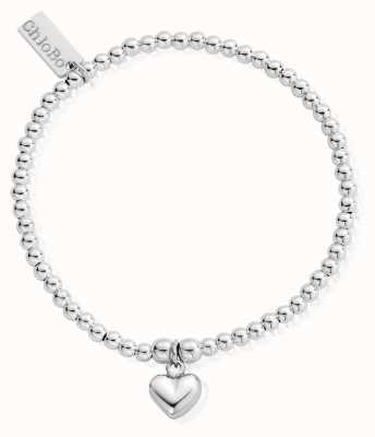 ChloBo Childrens Sterling Silver Cute Charm Puffed Heart Bracelet CSBCC023