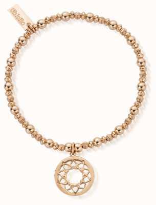 ChloBo Rose Gold Heart Mandala Bracelet RBPUMP461