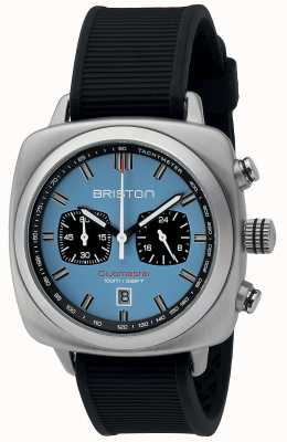Briston Clubmaster Sport Black Rubber Light Blue Matt Dial 16142.S.SP.18.RB