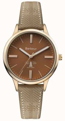 Barbour Mens Embleton Brown Leather Strap Brown Dial BB058BRKH