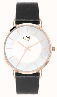 Limit Womens Black leather White Dial Watch 6312.37