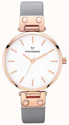 Mockberg Womens Alicia Dark Grey Leather Watch MO118