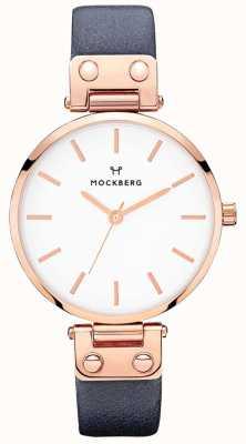 Mockberg Womens Sophie Navy Blue Leather Watch MO119
