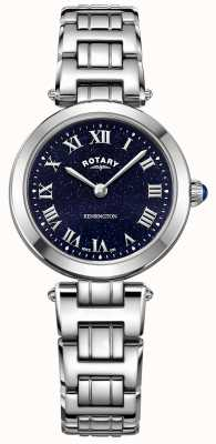 Rotary Women's Kensington Blue Sparkle Dial Stainless Steel LB00400/67
