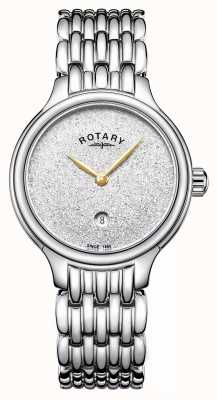 Rotary Women's Sparkle Glitter Dial Stainless Steel LB00405/33