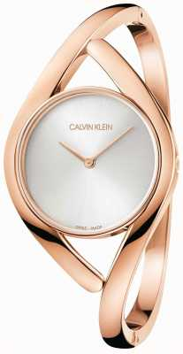 Calvin Klein Rose And Silver Party Stainless Steel Bracelet K8U2S616