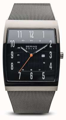 Bering Solar Polished Grey Mesh Bracelet 16433-377