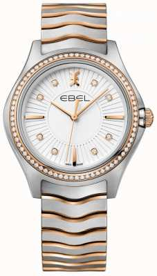 EBEL Women's Diamond Wave White Dial Two Tone Bracelet 1216319