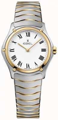 EBEL Women's Sport Classic White Dial Two Tone Bracelet Stainless 1216387A