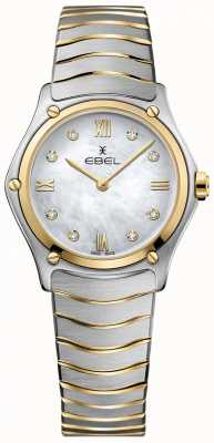EBEL Women's Sport Classic Diamond Mother Of Pearl Dial Two Tone 1216388A