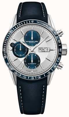 Raymond Weil Mens Freelancer Automatic Chronograph Blue Leather Strap 7731-SC3-65521