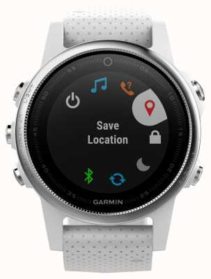 Garmin Fenix 5S Carrara White Band Silver Bezel 010-01685-00