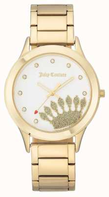 Juicy Couture Womens Gold Tone Crown Dial And Bracelet JC-1052WTGB