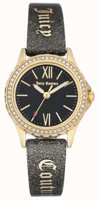 Juicy Couture Womens Gold Tone Case Black Juicy Strap JC-1068BKBK