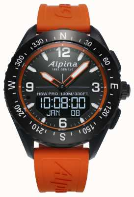 Alpina AlpinerX Smartwatch Orange Rubber Strap AL-283LBO5AQ6