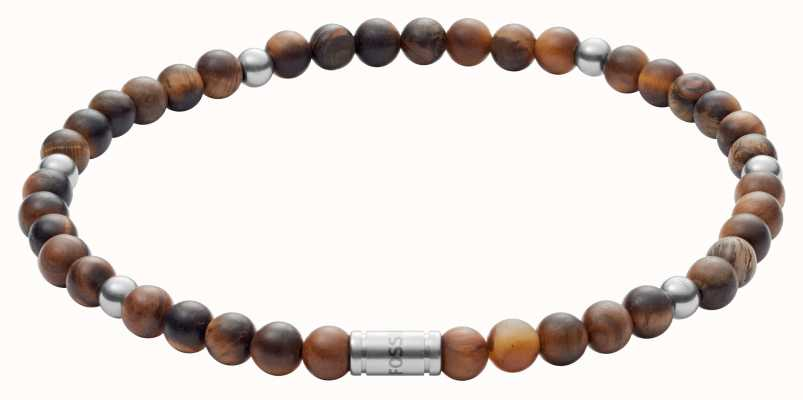 Fossil womens vintage motifs Brown Beaded Bracelet JF02939040