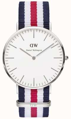 Daniel Wellington Mens Classic Canterbury Watch Silver Case DW00100016