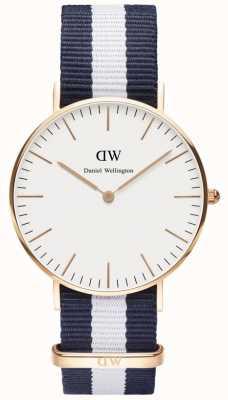 Daniel Wellington Mens Classic Glasgow Watch Rose Gold Case DW00100031